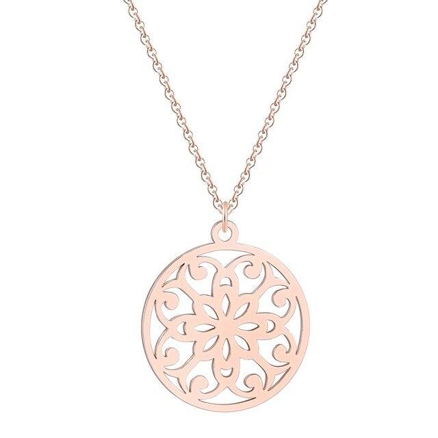 Купить ожерелье todorova с мандалой ожерелье из нержавеющей стали цветком