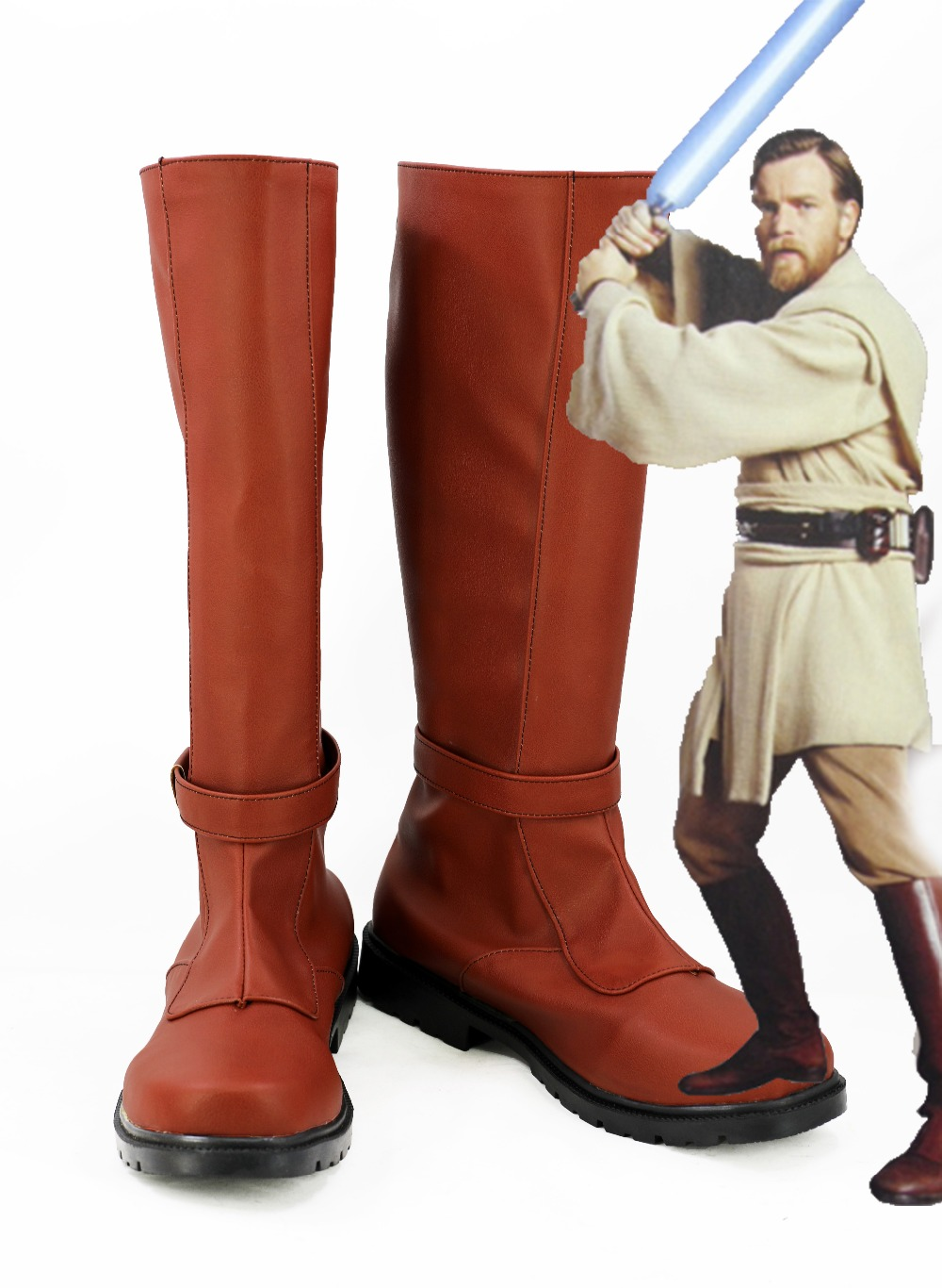Star Wars Obi Wan Kenobi Jedi Boots Cosplay Shoes Custom Made