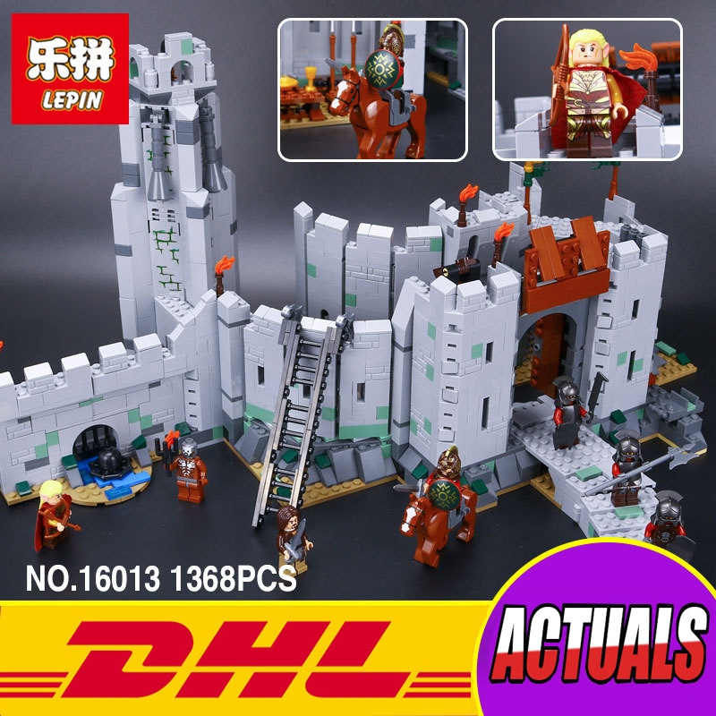 Lepin 16013 New 1368Pcs The Lord of the Rings Series The Battle Of Helm' Deep Model Building Blocks Bricks Educational Toys 9474 new lepin 16018 genuine the lord of rings series the ghost pirate ship set building block brick toys 79008 educational toy gift
