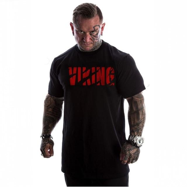 VIKING 3XL Extra Size T-Shirt di Marca Mens muscle T shirt bodybuilding fitness uomini parti superiori del cotone canottiere Più Il Big size Maglietta cotto