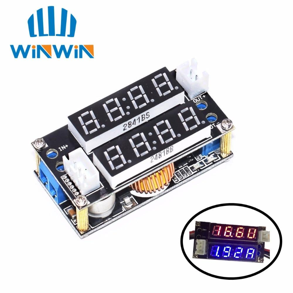 10PCS XL4015 5A Adjustable Power CC CV Step down Charge Module LED Driver Voltmeter Ammeter Constant