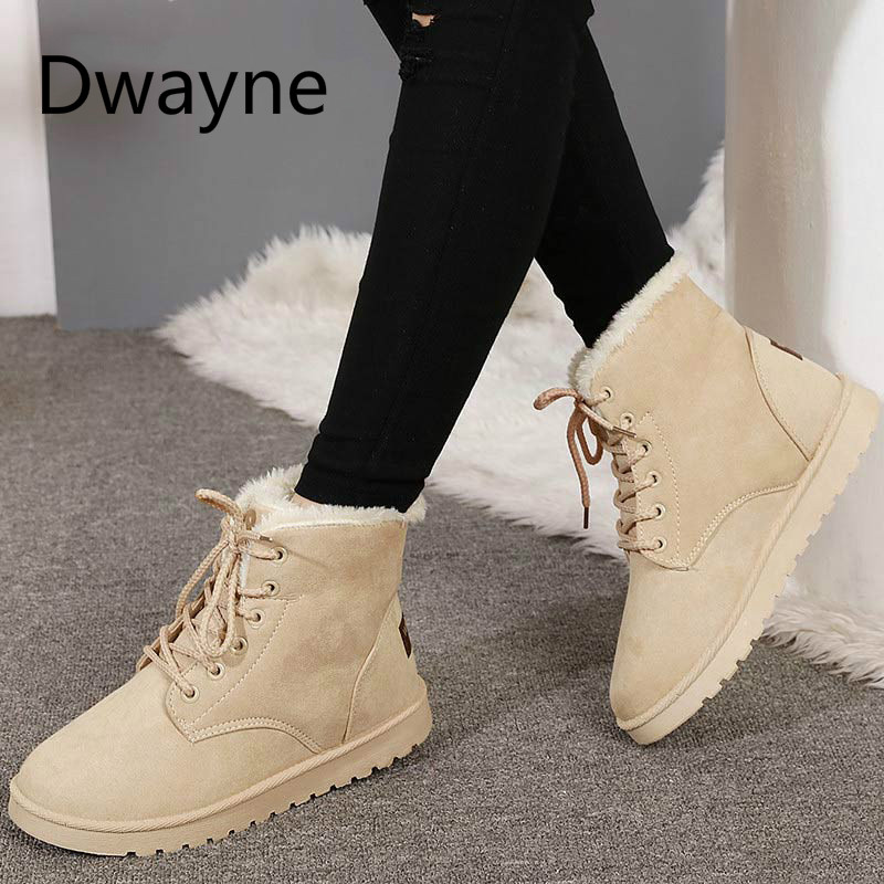 Women Boots 2018 Ankle Boots Women Winter Shoes Warm Fur Snow Boots Female Winter Boots Fashion Woman Shoes