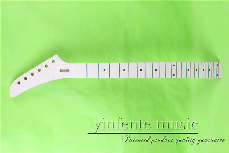 0063+1#   left  25.5 Electric guitar neck   Bolt on  maple      fingerboard fine quality  24  fret what she left
