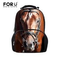 2015 Large Capacity 3D Animal Felt Backpack Men S Backpack Crazy Horse Shoulder Bag For School