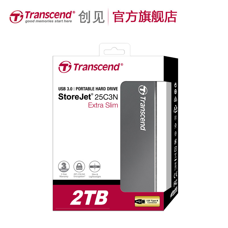 Transcend Extra Slim 9.95mm External HDD Hard Drive 1T USB 3.0 2T Portable Hard Disk 2.5 inch Aluminum metal Shell Free Shipping экшн камера transcend drive pro body 10 ts32gdpb10a