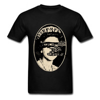 Free Shipping Latest Band Mens Sex God Save The Queen Tee 80s Style Cotton T Shirt