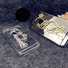Exclu S Ive/cu S tomize имя в S onal мягкой зеркало Case для iPhone 5 5S 6 6 S 7 Plus SAM s Унг Galaxy S5 S 6S 7 s 8 Edge Plus Примечание 3 4 5