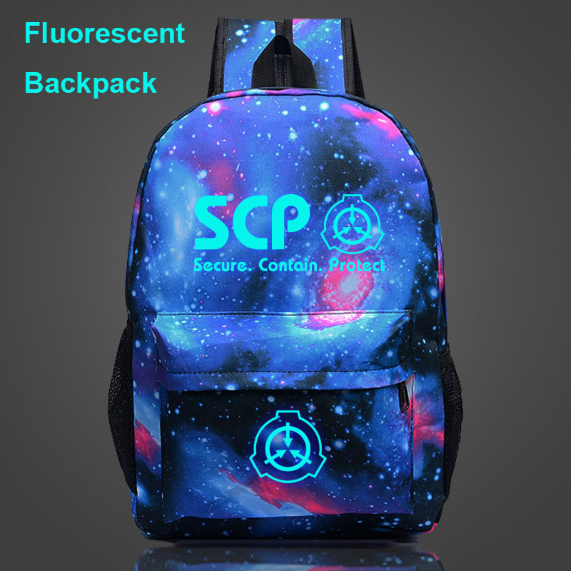 Student Backpacks Schoolbags Teenagers Fluorescent Glowing Galaxy Luminous Children Letter