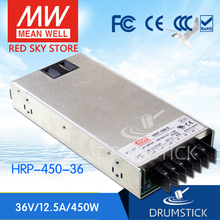 цены [VI] Hot! MEAN WELL original HRP-450-36 36V 12.5A meanwell HRP-450 36V 450W Single Output with PFC Function  Power Supply