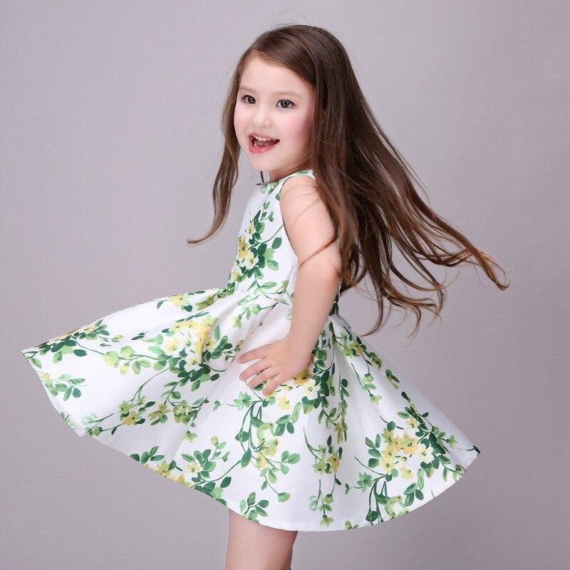 6115465996d Cute 2016 Summer Flower Floral Print Baby Girls Dresses Party Tutu Dress  Kids Toddler Costume Clothes Princess Vestidos De Festa-in Dresses from  Mother ...