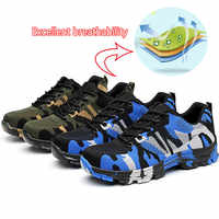 NMSafety Labor Insurance Puncture Proof Work Sneakers Mens Safety Shoes Steel Toe Cap Camo Spring Breathable Mesh Casual Shoe