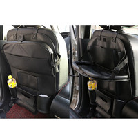 Multi function Foldable Storage Bag Car Back Seat Organizer Pockets with Food Tray Table