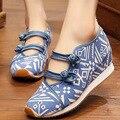 Китайский Старый Пекин Boho Вышивка обувь Туризм Этническая вышитые Цветочные обувь синглов прогулки танцевальная обувь размер 35-40
