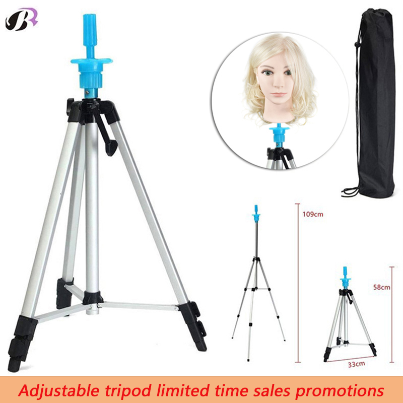 High Quality Aluminum Alloy Mannequin Training Head Tripod Mannequin Head Holder Training Head Stand Clamp Mannequin Head Tripod