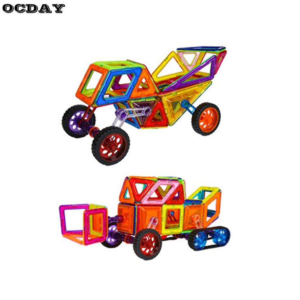 Mini ensemble de Construction de concepteur magnétique modèle et jouet de Construction en plastique développement intellectuel blocs de Puzzle jouets pour enfants cadeau