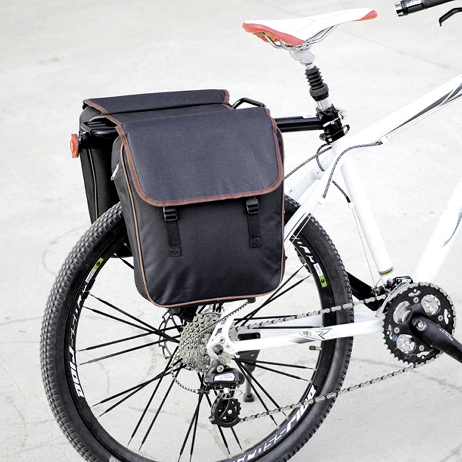 NEWBOLER MTB Bicycle Carrier Bag Rear Rack Bike Trunk Bag Luggage Pannier Back Seat Double Side Cycling Retro Bycicle Bag
