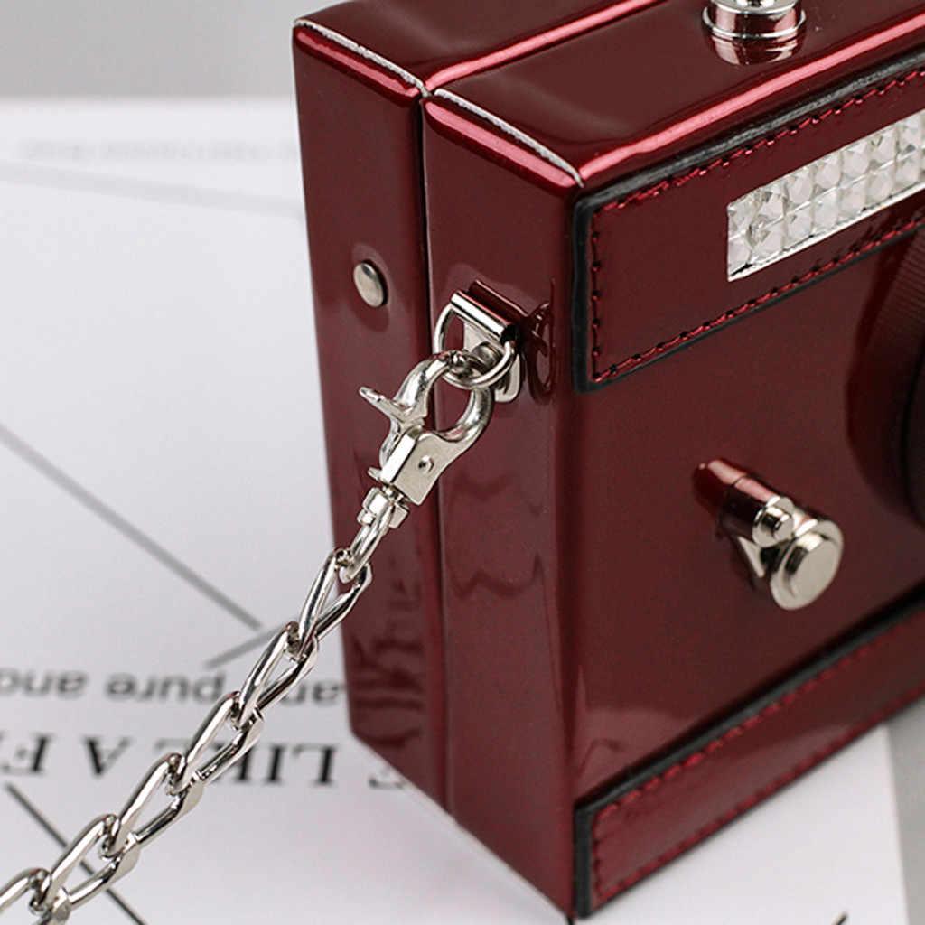 Luxe Handtassen Vrouwen Tassen Designer Camera Vorm Vrouwen Tas Lederen Schoudertas Crossbody Tassen Keten Wilde Party Bags Bolso