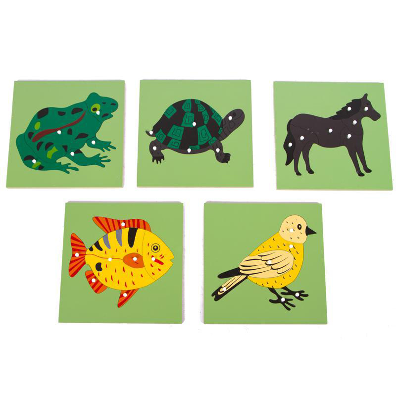 Wooden Cartoon Animal Plant Puzzle Games Toys For Children Kids Early Learning Education Jigsaw Puzzle Popular Toy