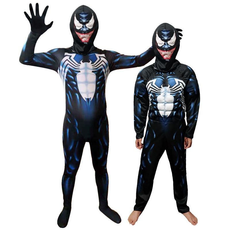 Venom Mask Movie Eddie Brock Halloween Costume Cosplay Spiderman Adult Size