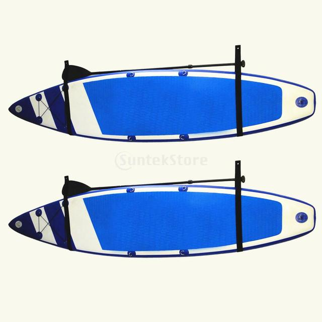4x Stand Up Paddle Board SUP Surfboard Indoor Garage Storage Wall Rack  Straps Hanger Webbing Holder