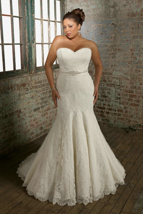 Plus Size Wedding Dresses The Curvy Pear Shaped Backless Mermaid ...