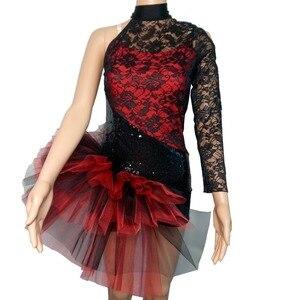 Image 5 - 소매 도매 여성 그릴 라틴 재즈 발레 레오타드 투투 스팽글 나일론/라이크라 레이스 댄스웨어