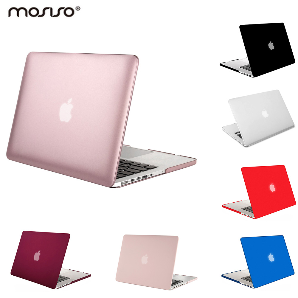 Mosiso Laptop Mac 13 Cover Case plastike e qartë Laptop Rasti për Macbook Pro 13 15 Retina 2015 2014 2013 + Cover Cover Silicone KB