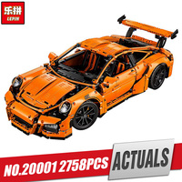 LEPIN 20001 New Technic Series 911 GT3 RS Race Car Model Building Kits Mini Figure Blocks