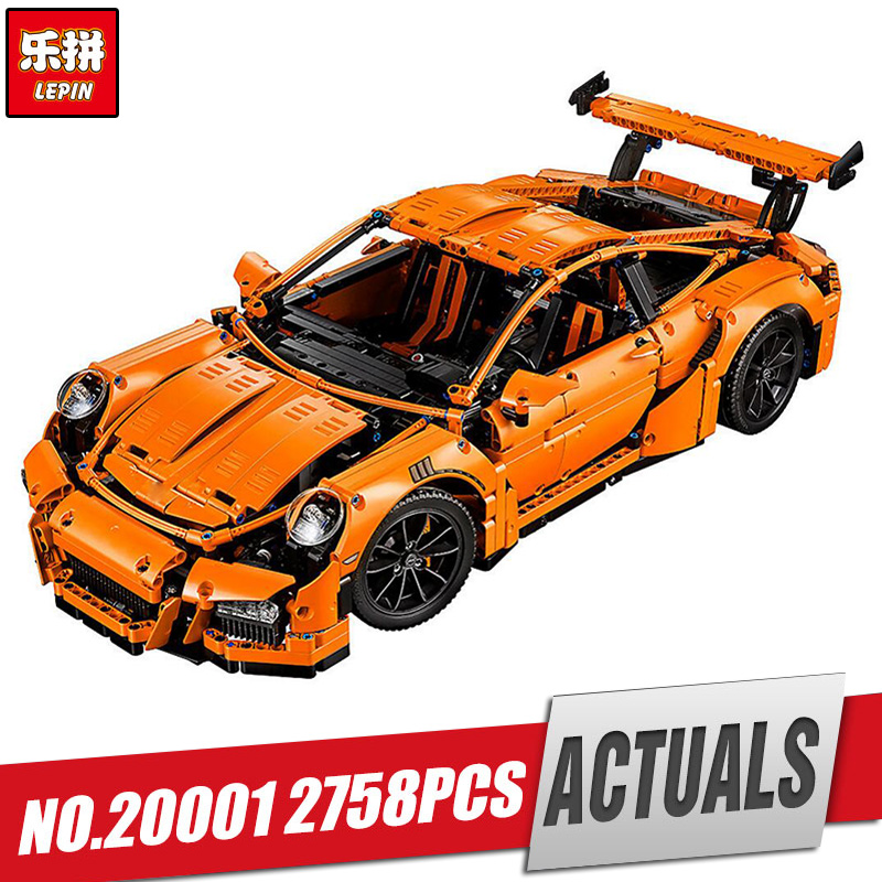 LEPIN 20001 technic series Race Car Model Building Kits Blocks Bricks Compatible 42056 Boys Gift Educational Toys model lepin 21003 series city car classical travel car model building blocks bricks compatible technic car educational toy 10252