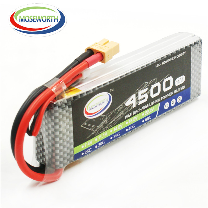 MOSEWORTH 11.1V 3S 35C 4500mah RC Helicopter Lipo battery for RC model aircraft quadcopter RC Drone batteria AKKU mini drone rc helicopter quadrocopter headless model drons remote control toys for kids dron copter vs jjrc h36 rc drone hobbies