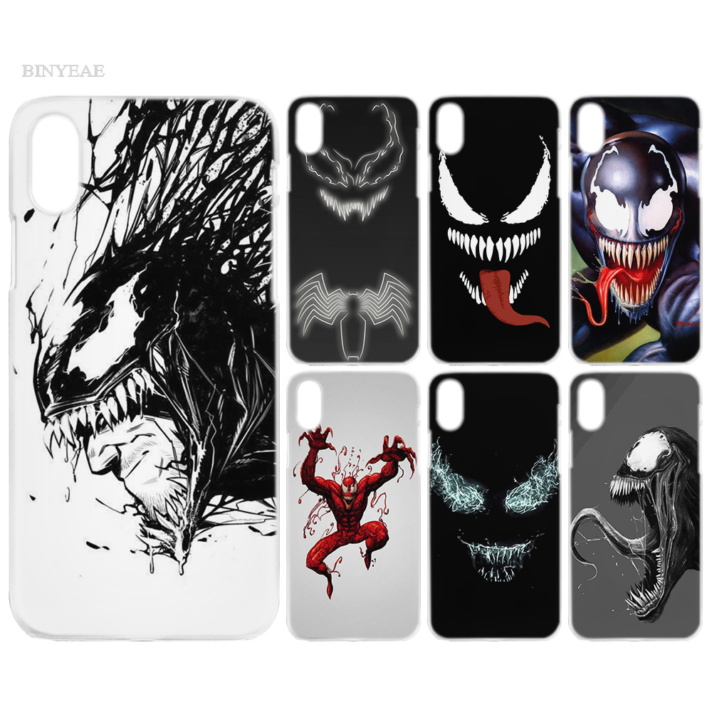 Case Cover Clear Hard PC Plastic For Iphone 7 8 6 6S Plus X 5 5S SE 5C 4 4S 4 Venom Villain Hulk