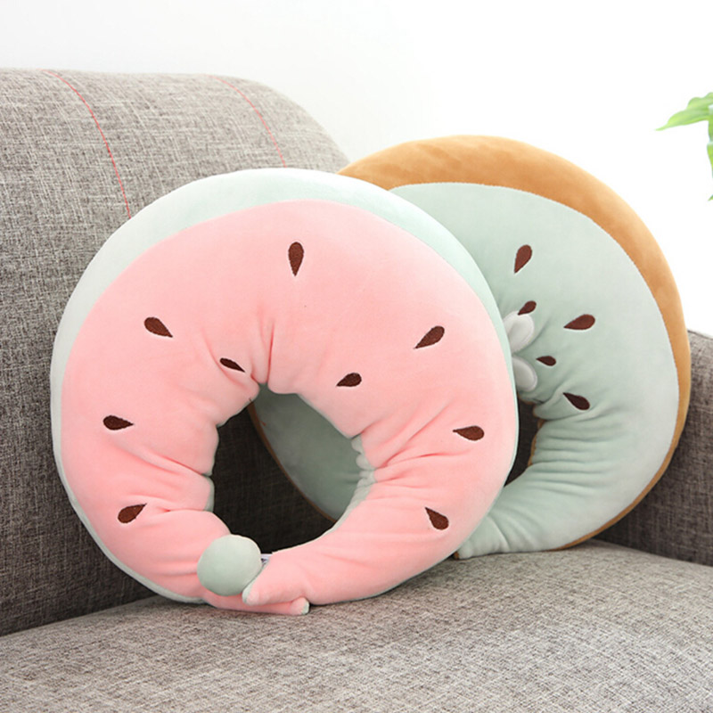 Garden Supplies 3d Fruit Design U Shaped Pillow Cushion Nanoparticles Neck Protection Pillow Car Travel Massage Pillow Neck Support Cushion