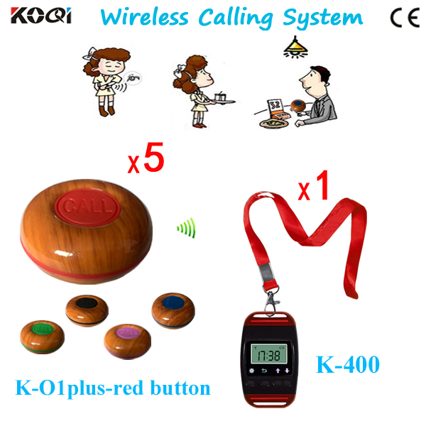 Coffee Shops Wireless Call Bell System Sample Order Price 1 Electronic Watch And 5 Waiter Call Button Free Shipping|button|button wholesaler|button anime - title=