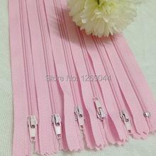 20 unids cremalleras Tailor herramientas de costura Craft 9 pulgadas rosa color de Nylon de la bobina