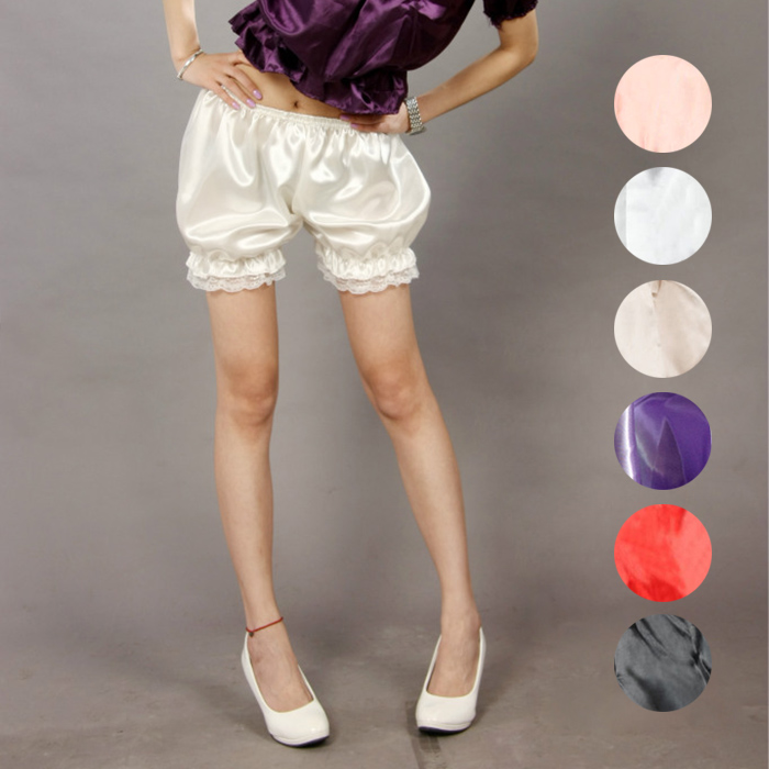 Fashion Women Girls Safety Shorts Lolita Cosplay Lace Pumpkin Bloomers Short Under Pants FS99