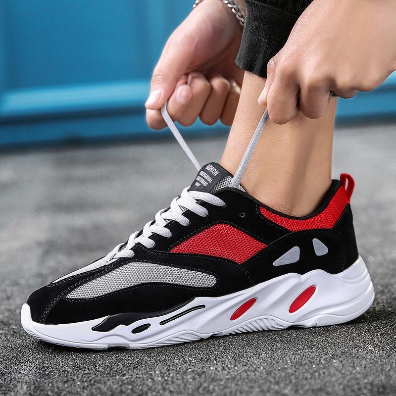 Marque Maille De Zapatos Plein Respirant blue Air Sapatos D'été Chaussures Appartements Hombre Marche Sneakers Casual En Confortable Black Hommes red qxOXSZX