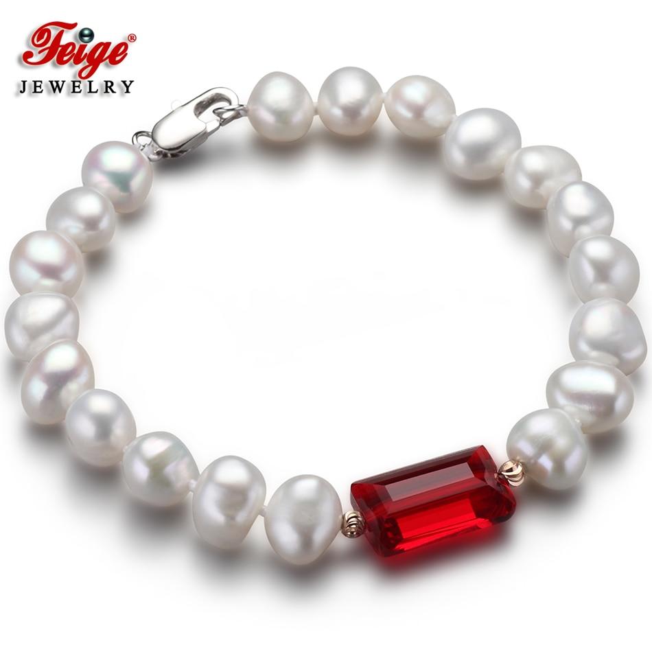 Feige Oferta especial Barroco 7-8MM Blanco Natural pulseras y - Joyas - foto 1