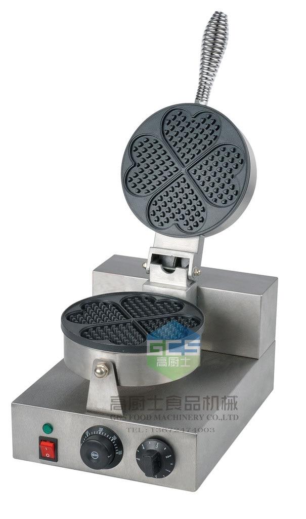 free shipping Electric 4 pcs a plate Waffle baker heart shaped waffle machine