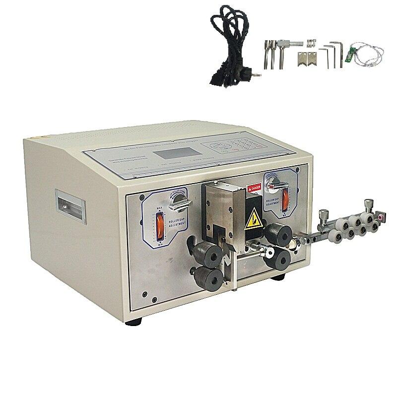 Automatique ordinateur câble fil stripper scraper machine SWT508E pour entrelacement de coupe téflon fiber de verre fil 0.1mm à 8mm