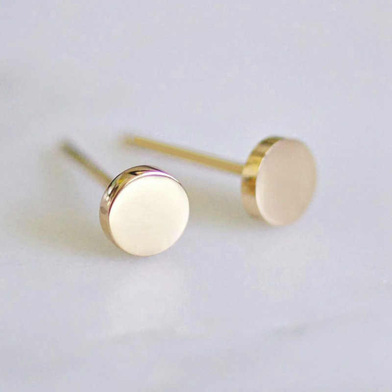 Korean Fashion Jewelry Ladies Stainless Steel Earrings Round Ladies Office Small Earrings Earringss Fashion Jewelry 2019