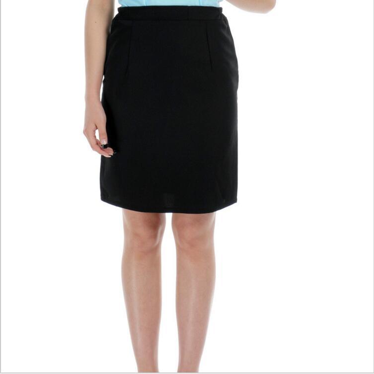 New Design Black Summer Waiter Uniforms Skirt For Women Hotel Restaurant Uniforms Work Skirt