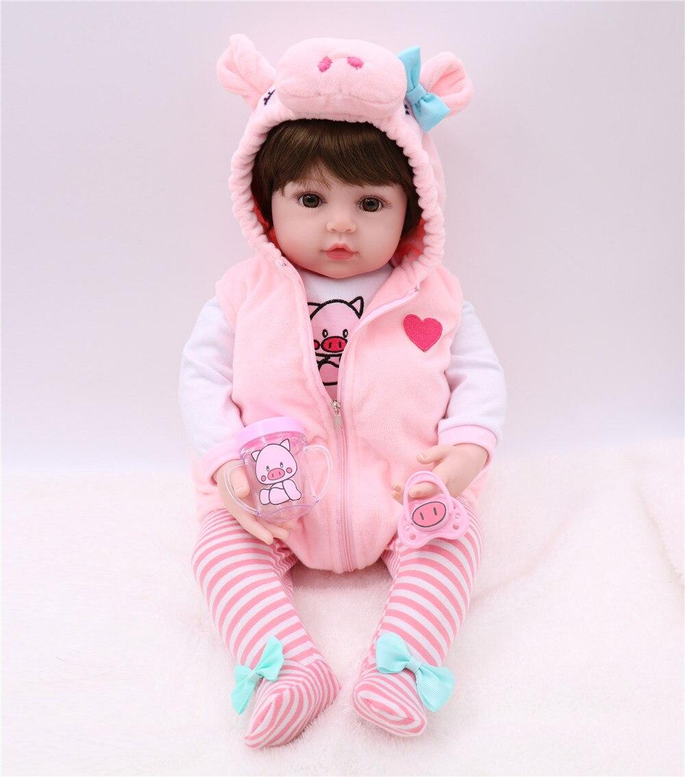 NPK bonecas reborn Silicone Bebê Reborn Boneca Brinquedos 60 cm Princesa Criança Bebês Como verdadeiro renascer bebe menina boneca Brinquedos presente