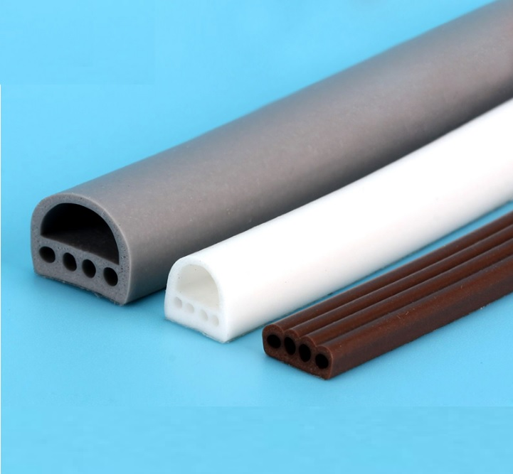 Soundproofing, Noise Control, Vibration Isolation, Acoustic Door Seal Gasket Tape 9x6,9x8x12x14mm, 6meters pack isolation