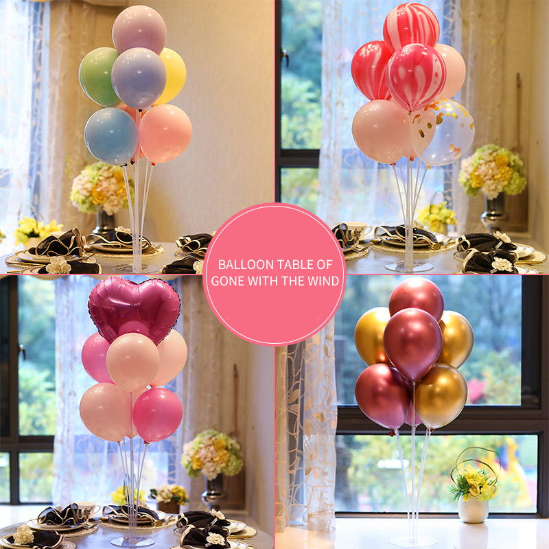 Macaron Balloons Metallic Balloon with Table Stand Wedding Decoration Birthday Party Supplies Holiday Desktop decoration