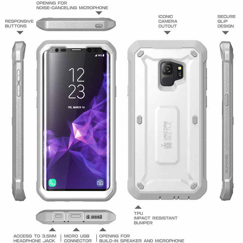 lowest price a2858 b2221 SUPCASE For Samsung S9 Case UB Pro Full-Body Rugged Holster Cover with  Built-in Screen Protector Case For Samsung Galaxy S9