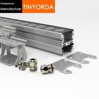 Tinyorda TWH4549 5Pcs (1M Länge) 36W48W LED Wash Wand Licht Gehäuse Flutlicht Leuchte für 35mm PCB [Professional Hersteller]-in Lampenradiatoren aus Licht & Beleuchtung bei