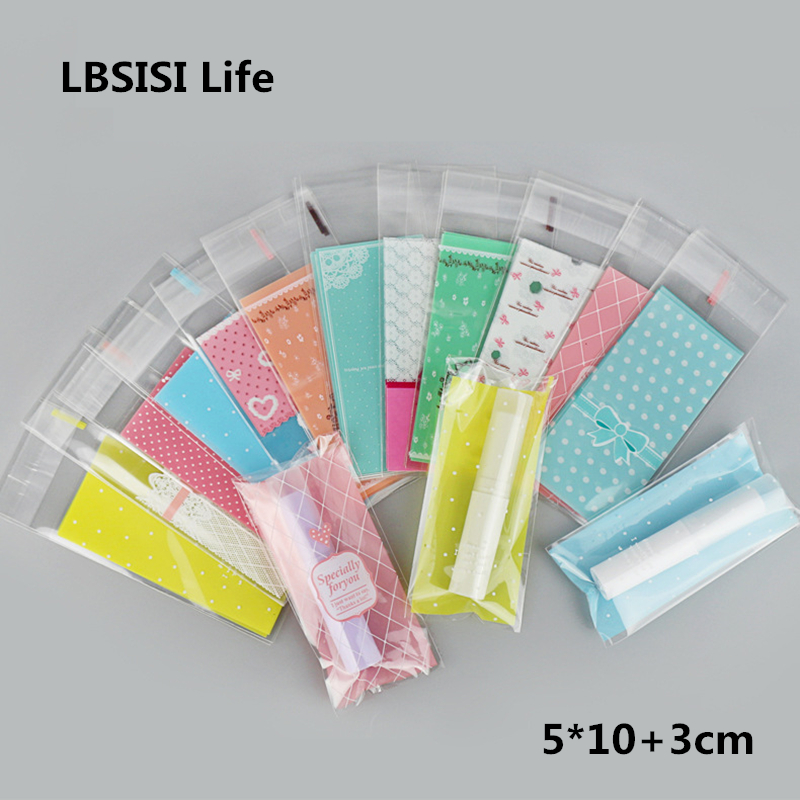 LBSISI Life 100pcs Lipstick Bags Cute Small Plastic Candy Cookie Packaging Bags Cupcake Wrapper Self Adhesive BagLBSISI Life 100pcs Lipstick Bags Cute Small Plastic Candy Cookie Packaging Bags Cupcake Wrapper Self Adhesive Bag