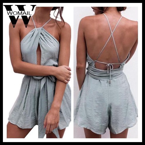 Womail Bodysuit Women Summer Fashion Casual Off Shoulder Bodycon Party Halter Jumpsuit Playsuit Shorts Hot New 2019 Dropship M5