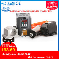 1.5kw Water Cooled Spindle Motor & 1.5kw VFD / Interver & 65mm clamp & pump /pipe& 13pcs ER11(1 7mm) For CNC Router