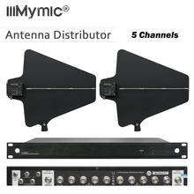 400 mètres de fréquence 470 950MHz cinq canaux antenne distributeur UA844 Microhone séparateur collecteur pour système Mic sans fil